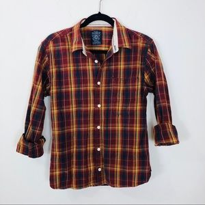 Pull & Bear Multicolored Plaid Shirt Size Large